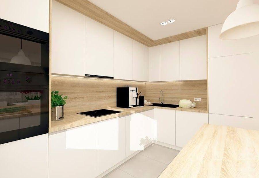 30 Ideas De Cocinas En Blanco Y Madera Cocinas Blancas Cocinas