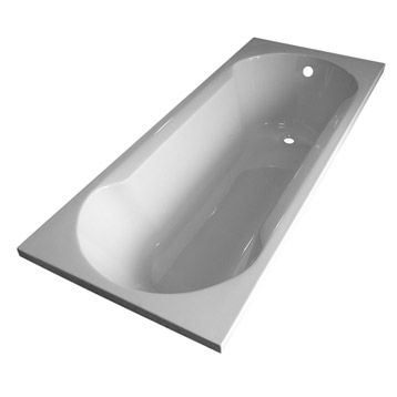 Leroy Merlin Baignoire rectangulaire Selma, 105x70 cm, acrylique - prix baignoire a porte