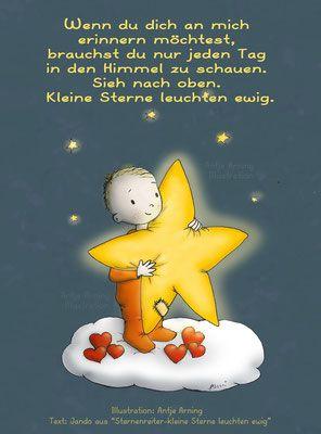 kleine sterne leuchten ewig spruch