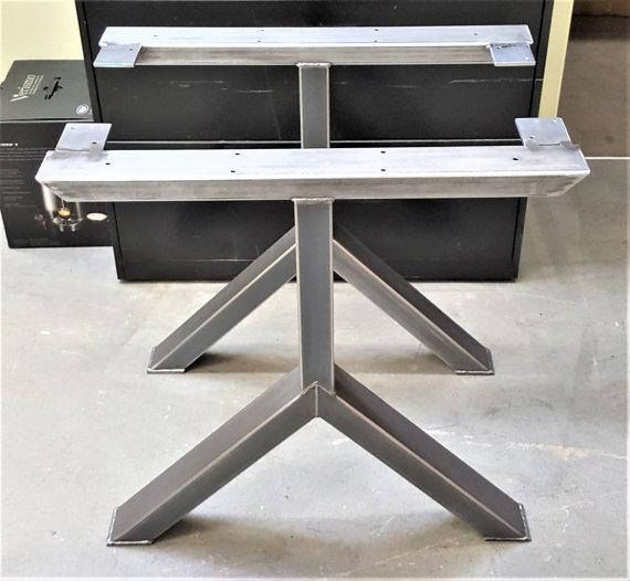 Captivating Set Of Two Metal Table Legs Iron Dining Table Legs 27 Pictures