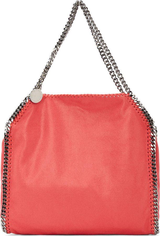 Stella McCartney Pink Babybella Shaggy Deer Small Tote Bag
