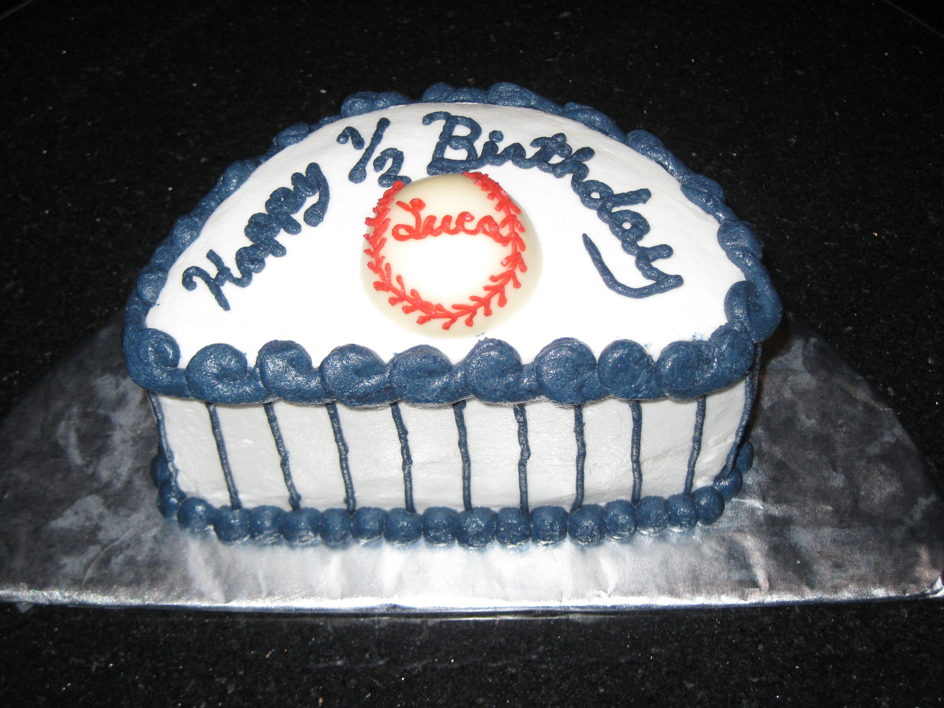 Baseball Half Birthday Cake My Baking Projects Pinterest Half
