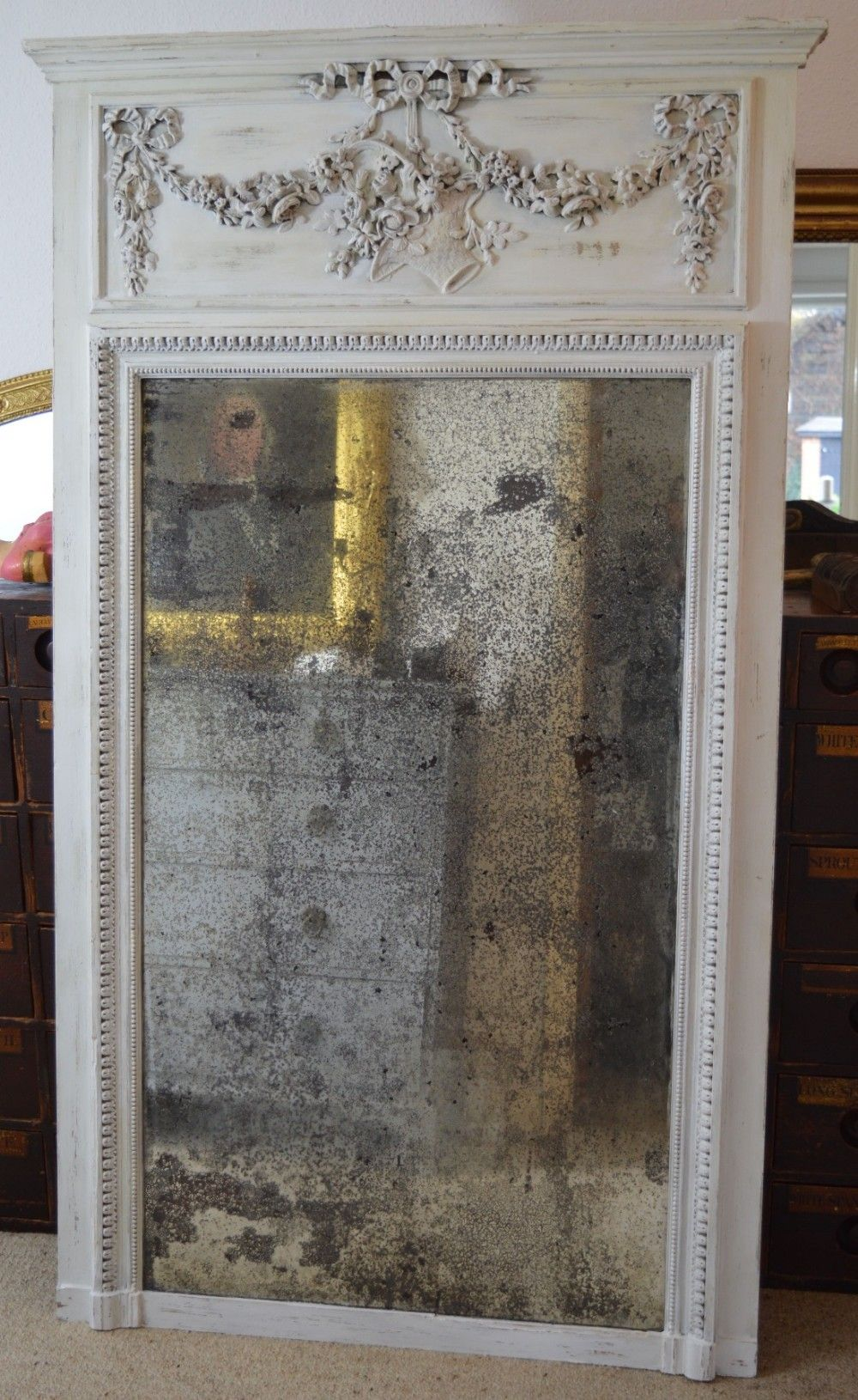 Gorgeous Large 19th Century Distressed Mirror Rustic French Furniture French Country Decorating French Country Mirrors