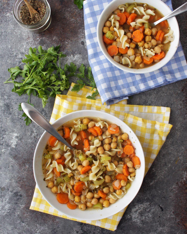 Chickpea Noodle Soup #chickpeanoodlesoup Vegan Chickpea Noodle Soup #chickpeanoodlesoup