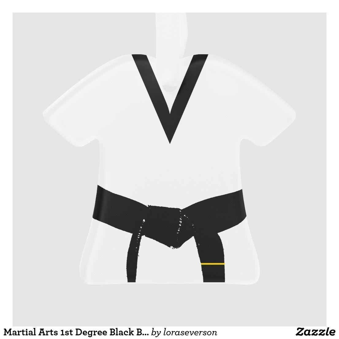 Martial Arts 1st Degree Black Belt Uniform Ornament Zazzle Com Black Belt Uniform Black Belt Martial Arts Black Belt