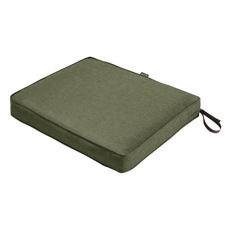 Classic Accessories Montlake Fadesafe Rectangular Patio Dining Seat Cushion Heather Fer Outdoor Dining Chair Cushions Custom Outdoor Cushions Dining Chair Pads