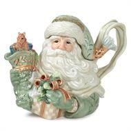 Fitz and Floyd Santa Gregorian teapot