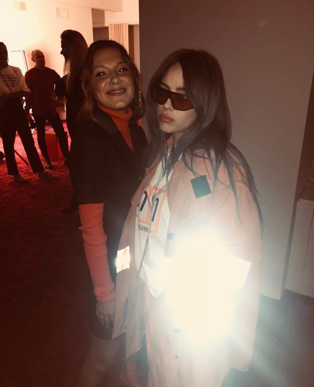 7f47535557367 Millie Bobby Brown and Billie Eilish at The Calvin Klein Fashion ...