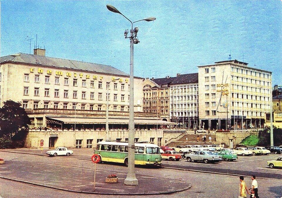 Theaterplatz und Chemnitzer Hof 1968