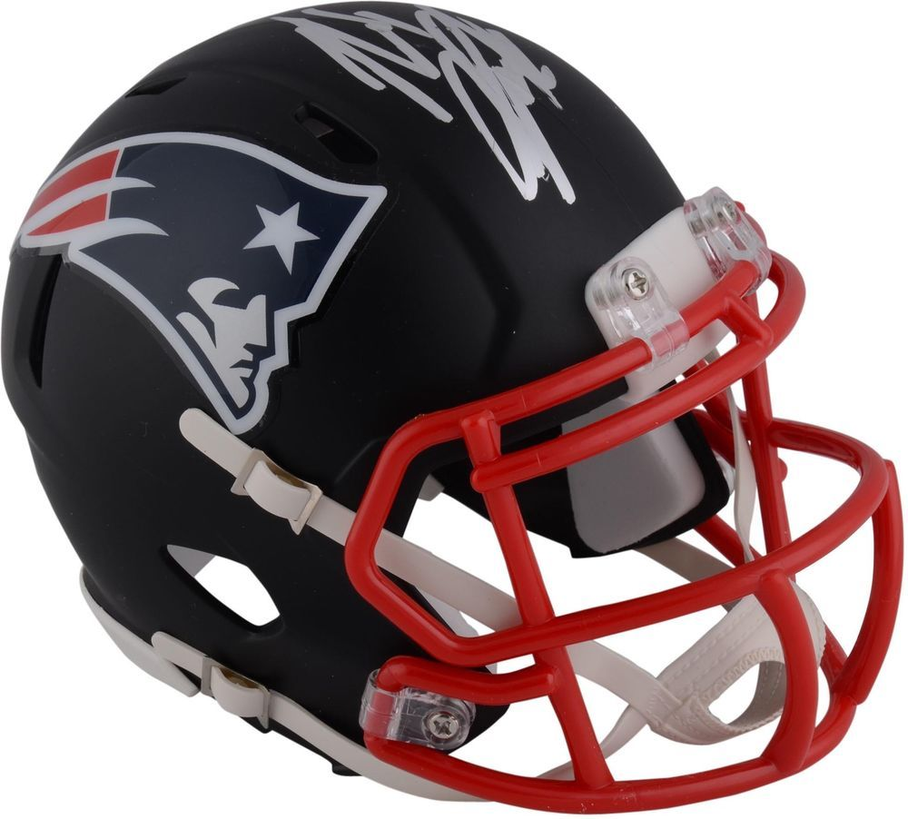 Rob Gronkowski New England Patriots Signed Riddell Black Matte Speed Mini Helmet With Images Football Helmets Football Helmets For Sale Nfl Gear