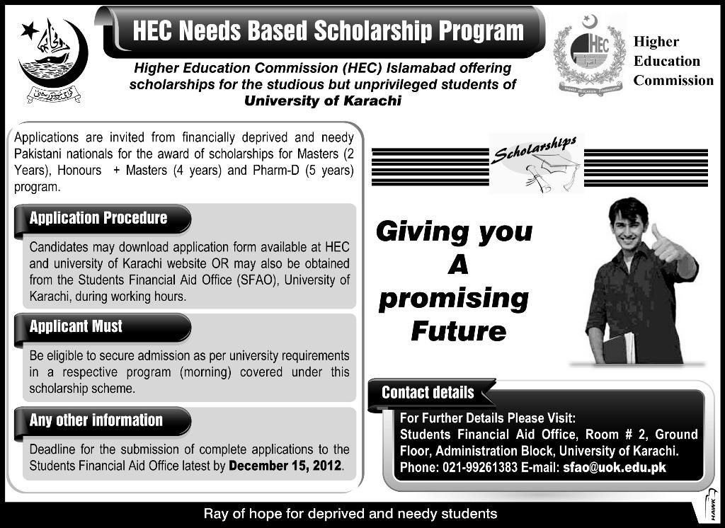 Hec need based scholarships scholarships cv template