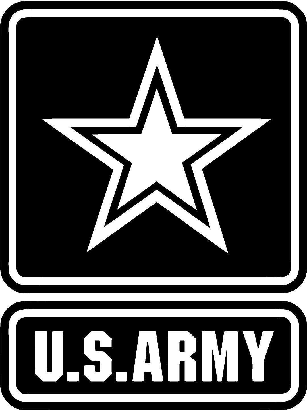 X2 Distressed Military Invasion Star Jeep Decal Sticker Vinyl USA Army