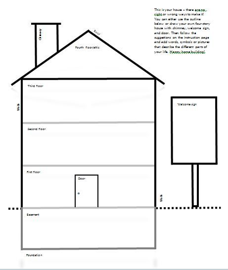 template for draw your house activity counseling tools good stuff pinterest dbt. Black Bedroom Furniture Sets. Home Design Ideas