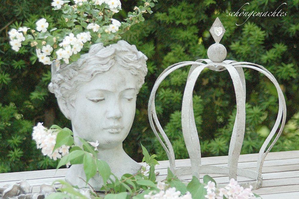 Gartendekoration Deko Krone Shabby Chic Gartendeko Ein