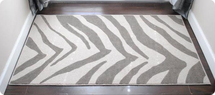 Zebra Print Painted Rug Via Knockoffdecor Pretty Much The Best Website Ever Knockoff Diys Of Retail Decor Anthropologie Ballard Design Crate