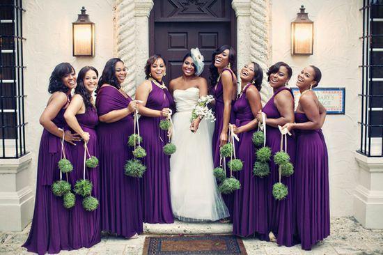 Dark Purple Bridesmaid Dresses Long Purple Bridesmaid Wedding