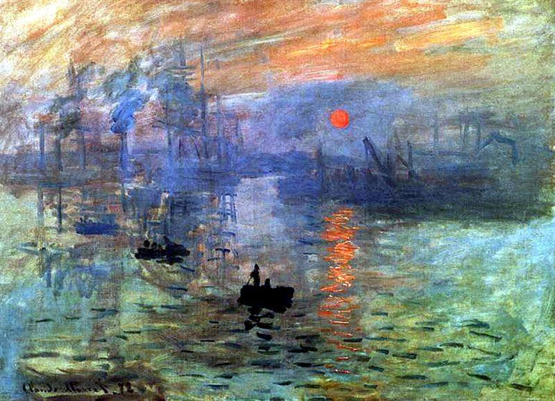 Claude monet 39 s impression sunrise inspired the name for for Claude monet artwork