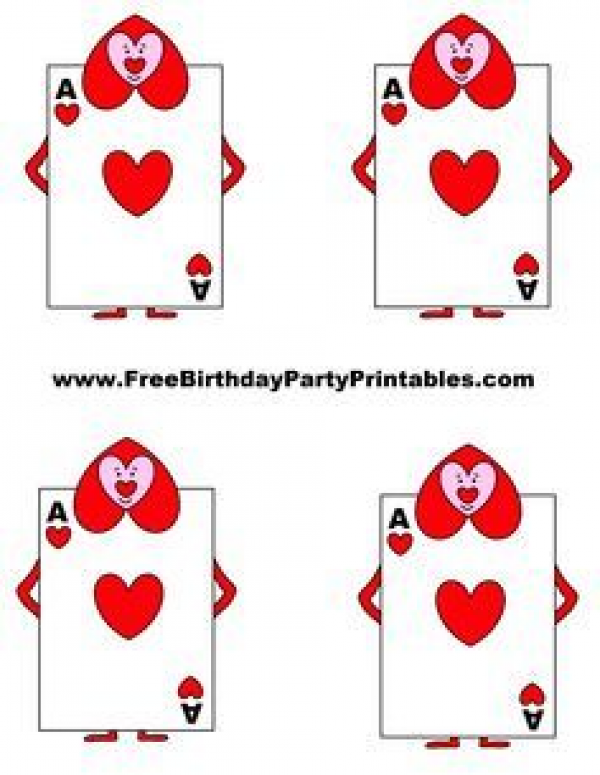 Alice In Wonderland Card Soldiers Printable Cutout Rabbithouses Printable Playing Cards Alice In Wonderland Printables Alice In Wonderland Birthday