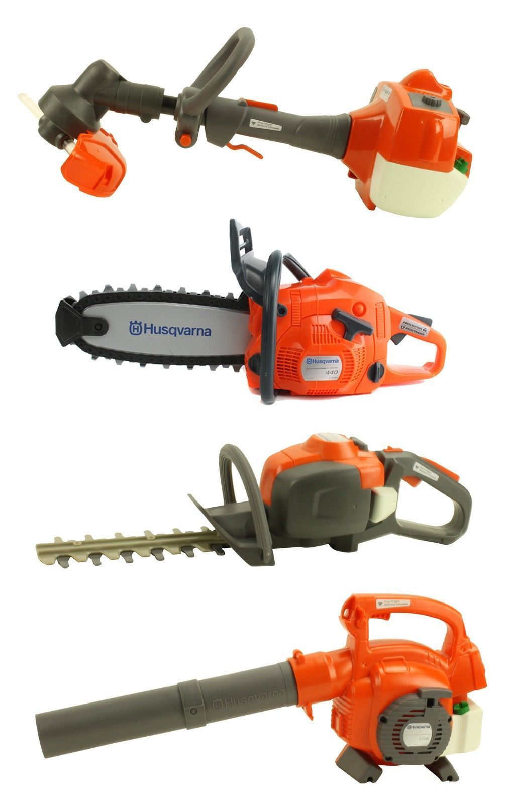 Husqvarna Battery Operated Kids Trimmer Chainsaw Hedge Trimmer