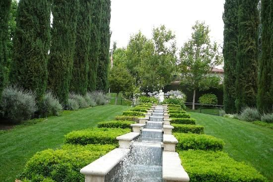 The Gardens of the World: Italian Garden Waterfall, Thousand Oak California