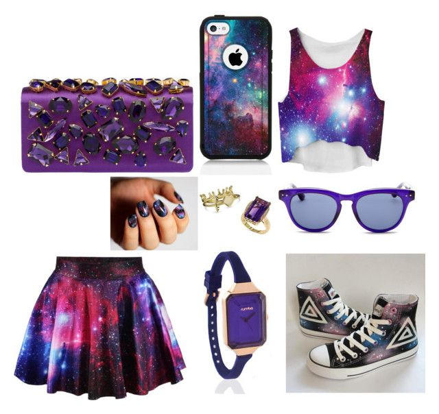 """Galaxy"" by karla-mouque ❤ liked on Polyvore featuring HVBAO, Prada, RumbaTime, Bling Jewelry, Effy Jewelry, Isaac Mizrahi, JINsoon and OtterBox"
