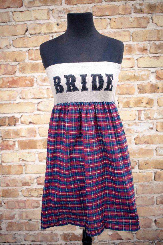 BRIDE DressGrey/Black and Plaid  Sm/Med by thearmorofGod on Etsy, $49.00