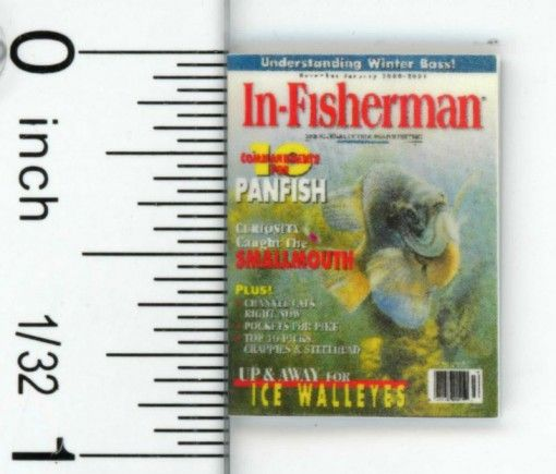 Dollhouse Miniature Magazine for the Fishing Devotee by Cindi/'s Mini/'s