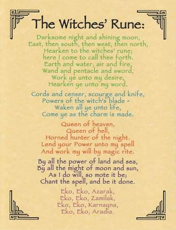 Witches Rune Parchment Poster Wicca Pinterest Runes Witches