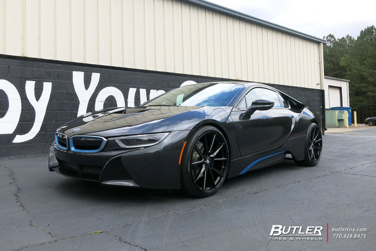 Bmw I8 With 22in Savini Sv F 4 Wheels Exclusively From Butler Tires And Wheels In Atlanta Ga Bmw I8 Bmw Black Car