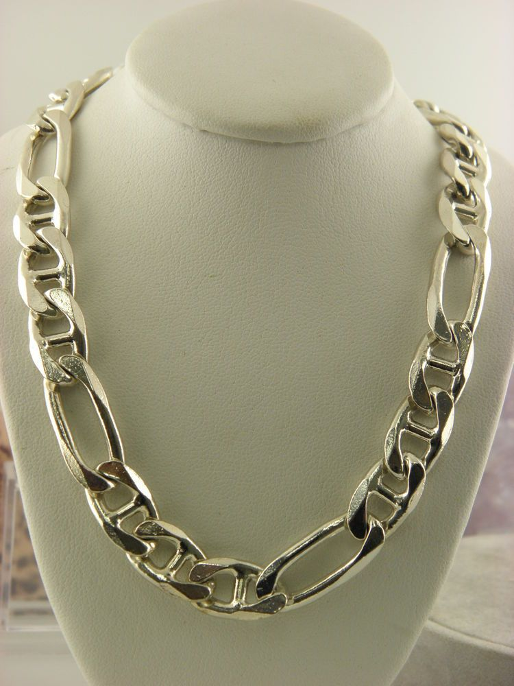 Vintage Sterling Silver Curb Link Necklace Chain