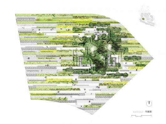 Plan Of The Garden And Key Plan Of The Expo C Atelier Eem Alessandro Delli Ponti Landscape Architecture Plan Landscape Architecture Design Landscape Design