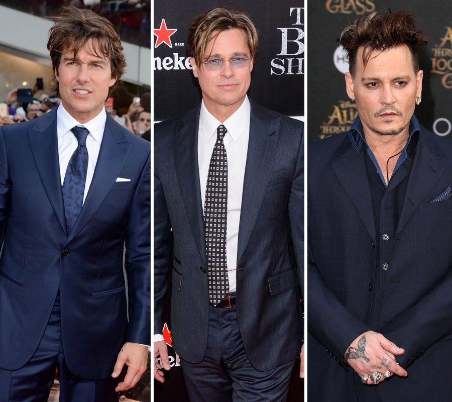 Tom Cruise Brad Pitt Johnny Depp Three Of The Biggest Movie