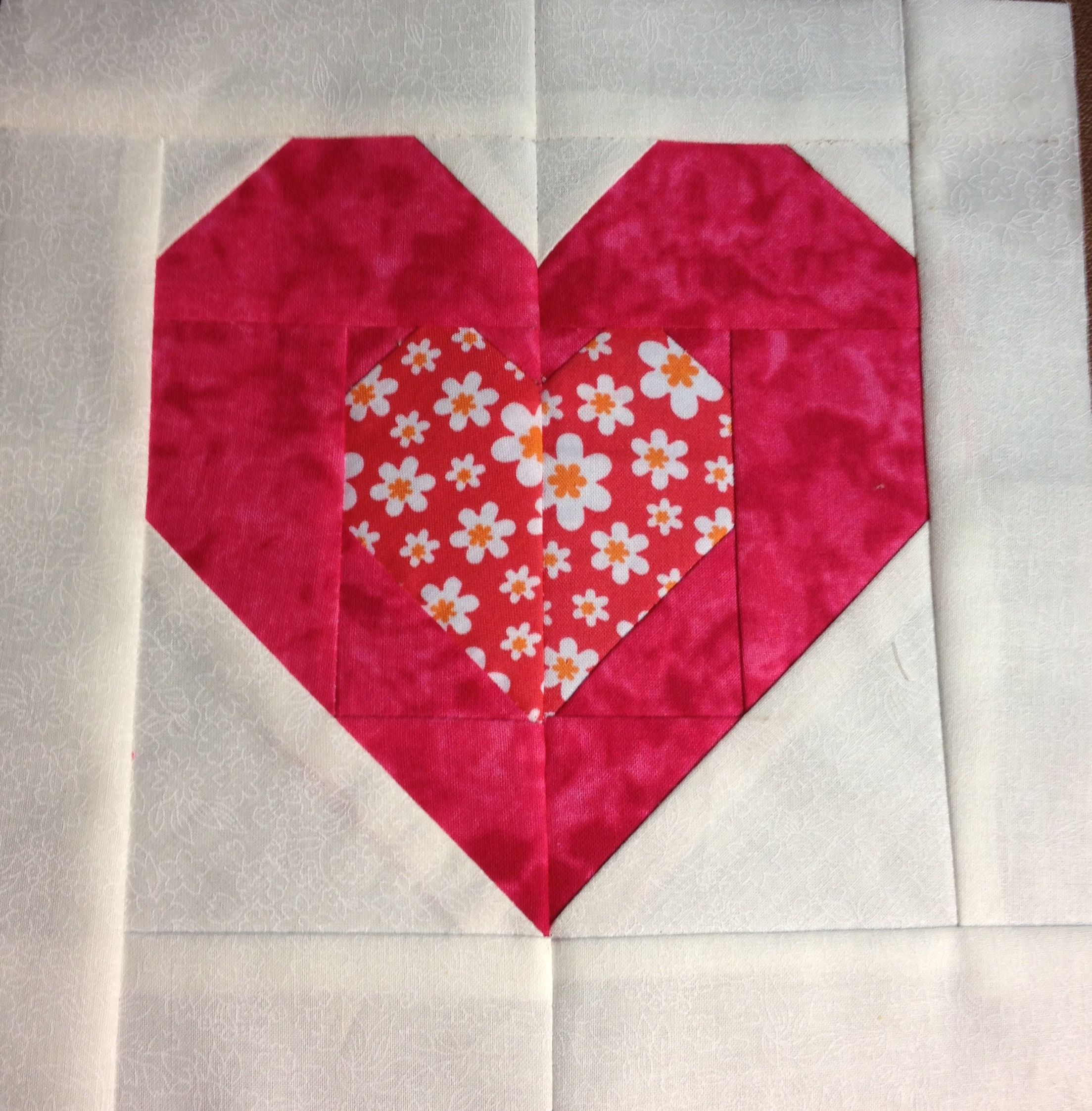Heart paper piecing Luisa Alonso ocubre 2015