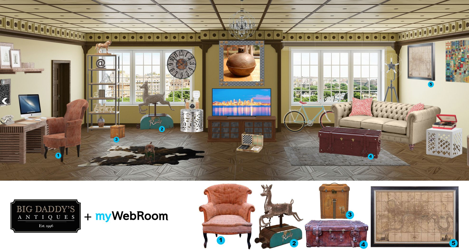 Big Daddyu0027s Antiques U0026 MyWebRoom Team Up To Bring Decadent Decor To Your  Online Room #