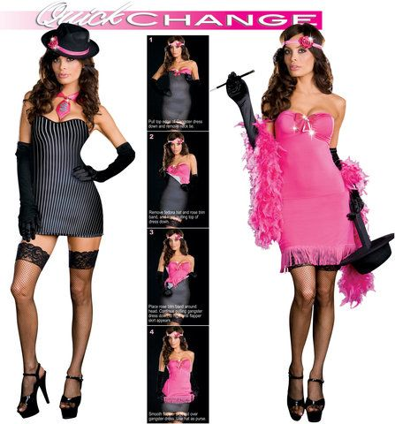 from gangster to gorgeous quick change adult costume halloween costumes adultspirit halloweenhalloween ideashalloween