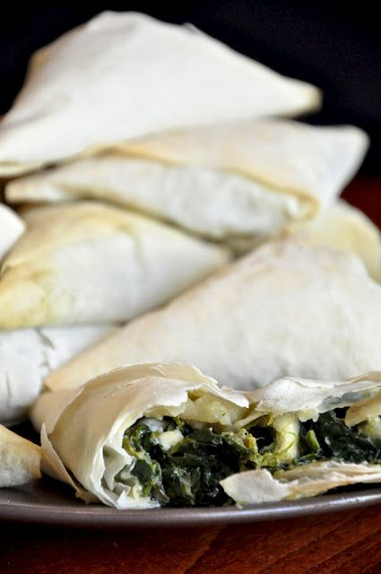 Greek Mini spinach pies...Spanikopitakia