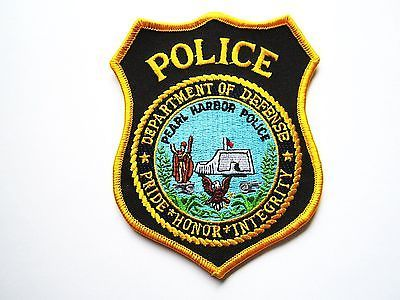 pearl harbor hawaii dod police patch
