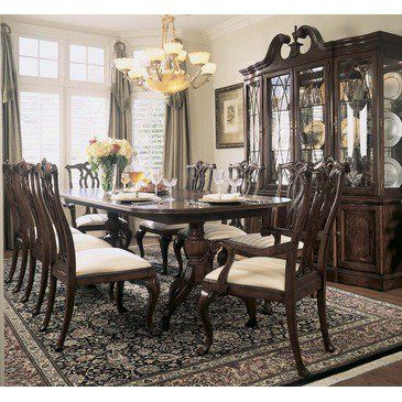 American Drew Cherry Grove 10 Piece Dining Room Set In Antique 792 744r From Beyond S