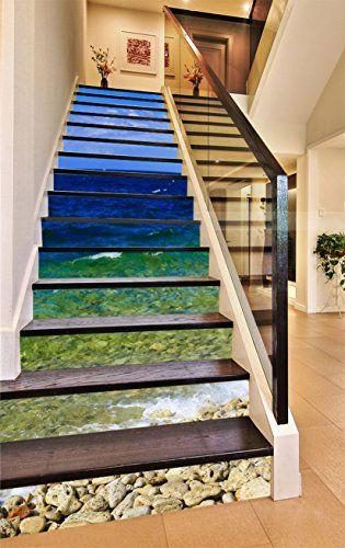 Black City Stair Risers Decoration Photo Mural Vinyl Decal Wallpaper CA