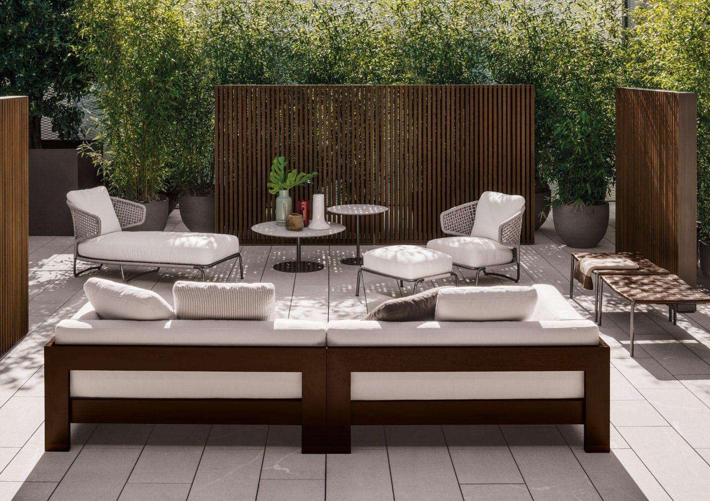 Mesa moderna / de metal / redonda / para jardín - BELLAGIO BISTROT ...