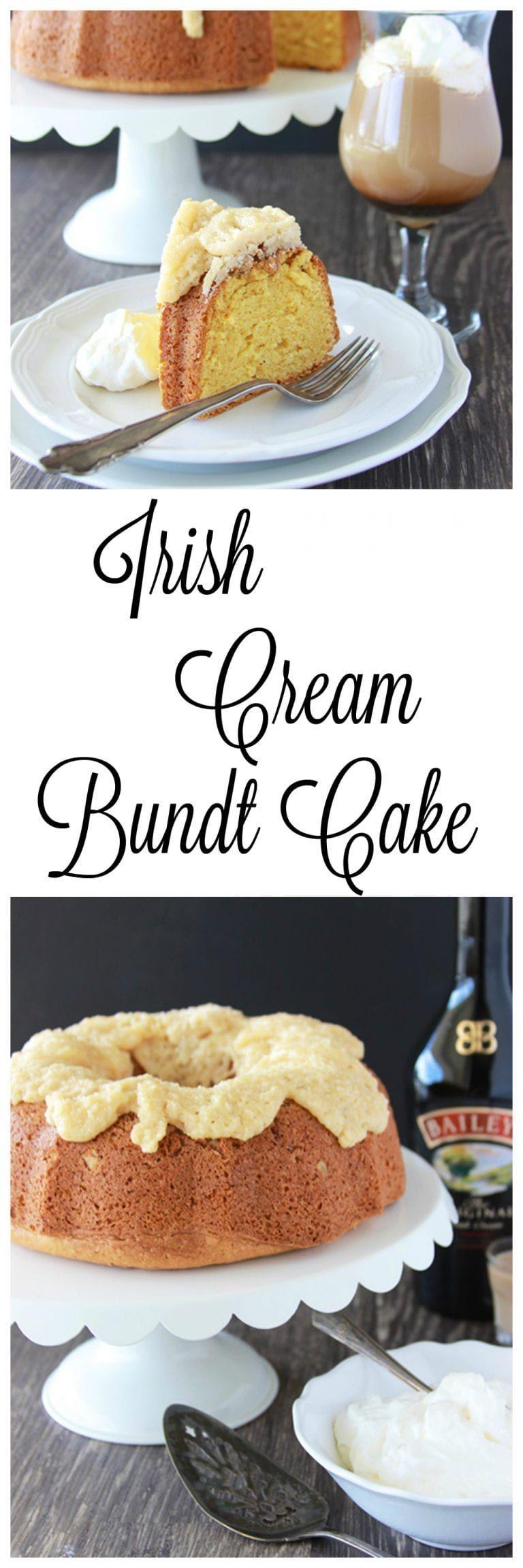 Irish cream bundt cake recipe easy irish desserts