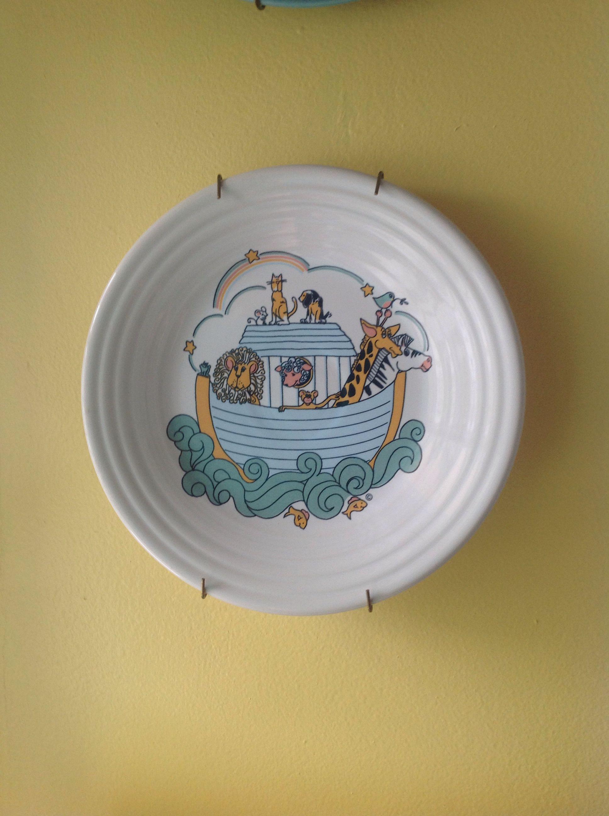 Noah's Ark on a Fiesta Ware Plate.