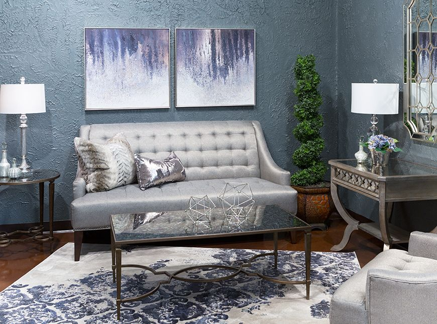 Hemispheres A World Of Fine Furniture Emily Le Charcoal Settee