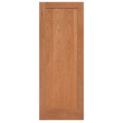 Masonite 36 In X 84 In Flat Panel Cherry Veneer 1 Panel Shaker Solid Wood Interior Barn Door Slab 81928 The Home Depot In 2020 Solid Wood Interior Door Wood Doors Interior Masonite Interior Doors