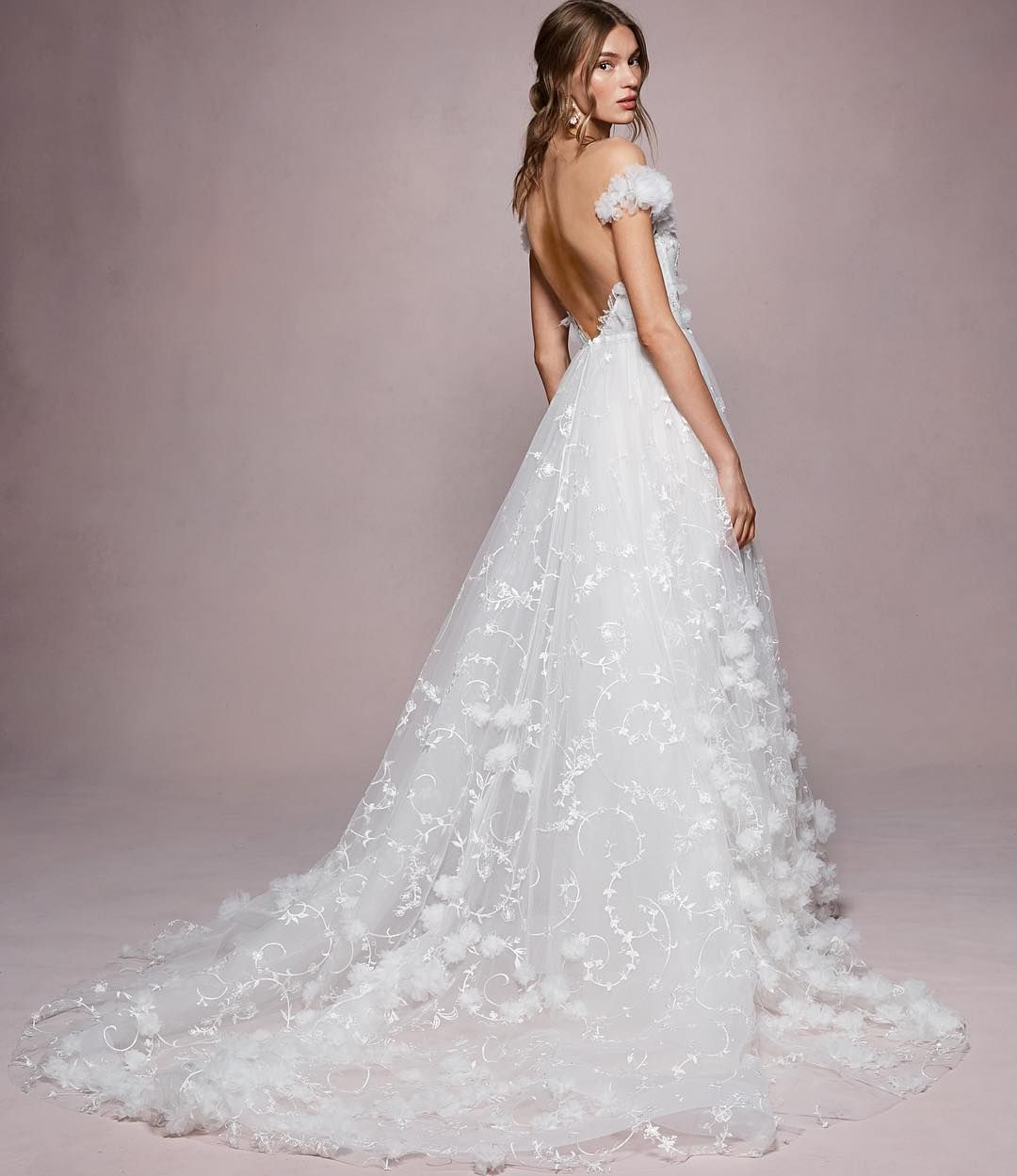Marchesa On Instagram Back Details Of The New Kyla From The Spring Summer 2020 Marchesa Notte Bridal Marchesa Bridal Wedding Dresses Backless Wedding Dress