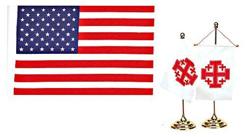 Usa American Banner Desk Flag F 01 By Terra Sancta Guild 12 95 Item F 01 United States Banner Desk Flag Beautiful B Flag Stand Garden Flags Flag