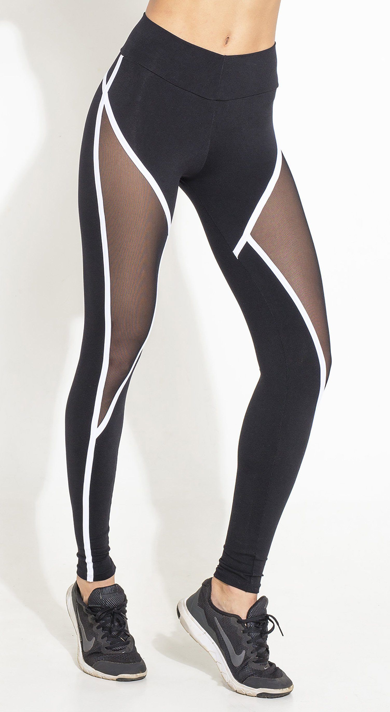 bc2c815f59a03 Brazilian Workout Legging - Scrunch Booty Move Mesh Black - Top Rio Shop