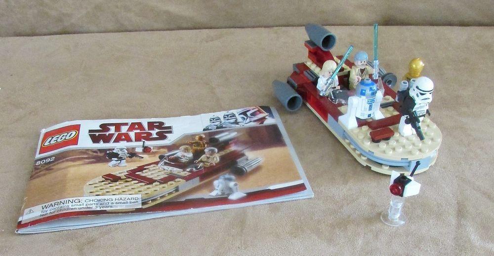8092 Lego Lukes Landspeeder Star Wars Complete Instructions