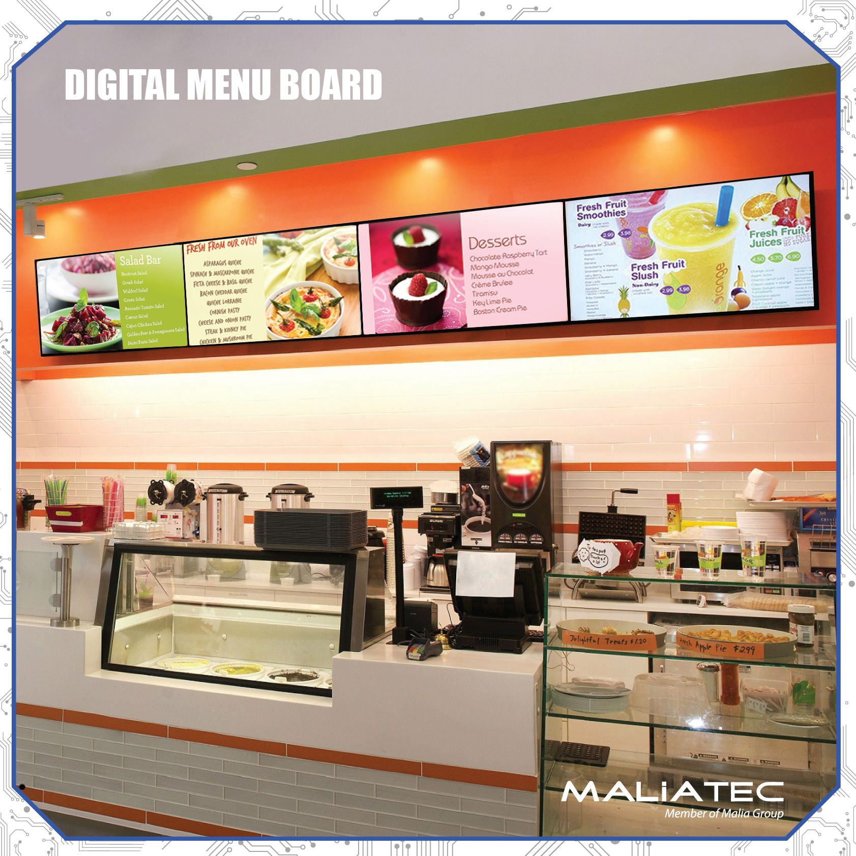digital menu board digitalsupport@maliatec | digital signage
