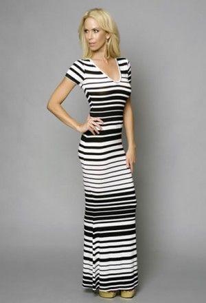 Purpura Erizo Womens New Summer Fashion Chiffon Stripe Dress